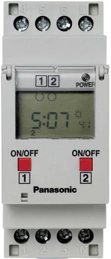Zeitschaltuhr für Hutschiene Betriebsspannung: 230 V/AC Panasonic TB6220187 2 Wechsler 16 A 250 V/AC Wochenprogramm