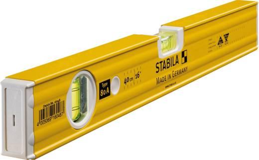 Leichtmetall-Wasserwaage 40 cm Stabila 80 A 16048 0.5 mm/m Kalibriert nach: Werksstandard (ohne Zertifikat)