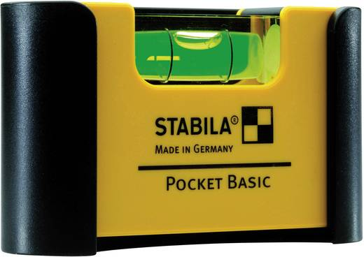Stabila Pocket Basic 18114 Mini-Wasserwaage 7 cm 1 mm/m Kalibriert nach: Werksstandard (ohne Zertifikat)