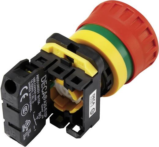 Not-Aus-Schalter mit Kontaktelement 240 V/AC 6 A 1 Schließer, 2 Öffner DECA A20B-V4E12R IP65 1 St.