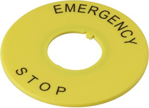 Bezeichnungsschild Aufdruck-Motiv EMERGENCY STOP Gelb DECA A2AV-27 1 St.