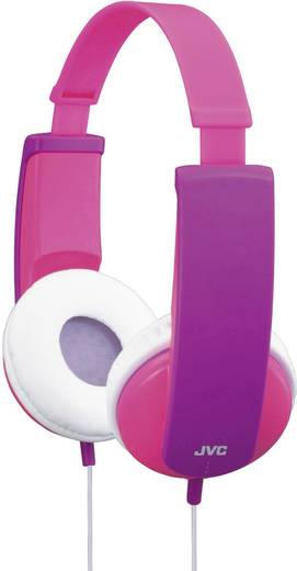 Kinder Kopfhörer JVC HA-KD5-P-E On Ear Lautstärkebegrenzung, Leichtbügel Pink, Lila