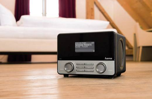 Hama IR110 Internet Tischradio AUX, Internetradio, USB Spotify Schwarz