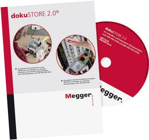 Megger dokuSTORE 2.0 PC-Software dokuSTORE 2.0, Passend für (Details) PAT410, PAT420, PAT450, MFT1835 DE-SWDOKU
