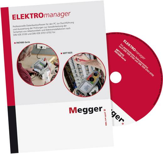Megger DE-SW-EM9-VER PC-Software ELEKTROmanager 9 Verwaltungslizenz, Passend für (Details) PAT410, PAT420, PAT450, MFT18