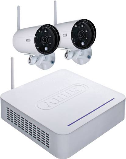 Funk-Überwachungskamera-Set 4-Kanal mit 2 Kameras 640 x 480 Pixel ABUS TVAC18000A