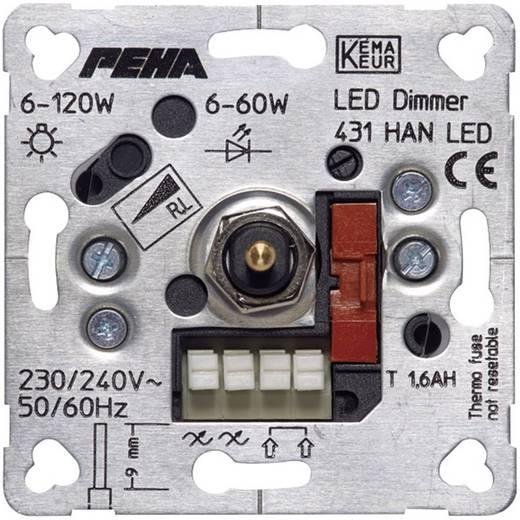 PEHA by Honeywell 1 Stück Einsatz Dimmer PEHA Aluminium D 431 HAN LED o.A