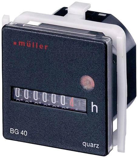Müller BG4017 Betriebsstundenzähler Rollenzählwerk, Schalttafeleinbau, 45 x 45 mm, 7-stellig, 12 - 48 V/DC