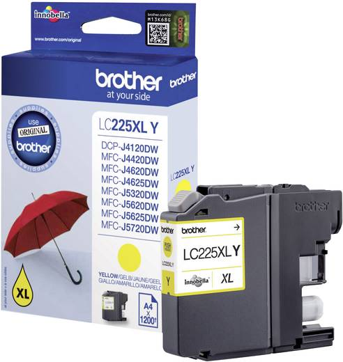 Brother Tinte LC-225XLY Original Gelb LC225XLY