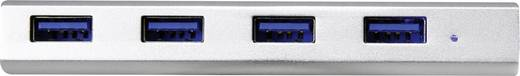 4 Port USB 3.0-Hub mit Aluminiumgehäuse Renkforce Aluminium