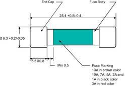 Fusible de multimètre 1234611 (Ø x L) 6.35 mm x 25.4 mm 1 A 250 V rapide -F- 1 pc(s)