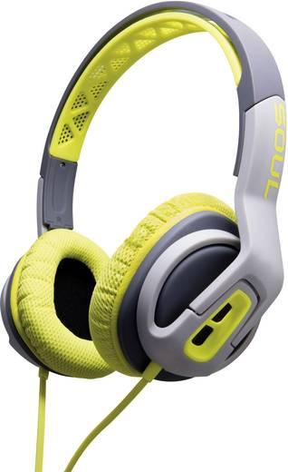 Sport Kopfhörer SOUL ST20GENA Transform On Ear Headset, Lautstärkeregelung, Schweißresistent Grün, Grau