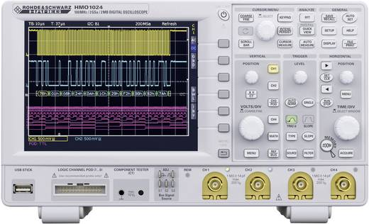 Digital-Oszilloskop Rohde & Schwarz HMO1024 100 MHz 12-Kanal 1 GSa/s 1 Mpts 8 Bit Digital-Speicher (DSO), Mixed-Signal
