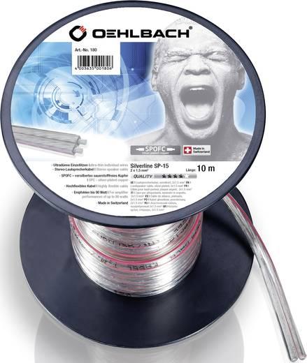 Lautsprecherkabel 2 x 1.50 mm² Transparent Oehlbach 180 10 m