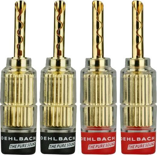Oehlbach 3021 Lautsprecher-Steckverbinder Stecker, gerade Rot, Schwarz 4 St.