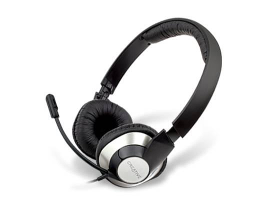 PC-Headset USB schnurgebunden Creative Chatmax HS-720 Over Ear Schwarz/Silber
