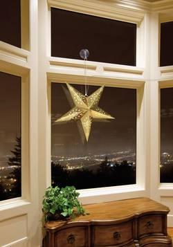 Papírové LED osvětlení do okna Polarlite LDE-03-001, do sítě, zlatá hvězda