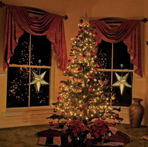 Fenster-Dekoration Stern Warm-Weiß LED Polarlite LDE-03-001 Gold