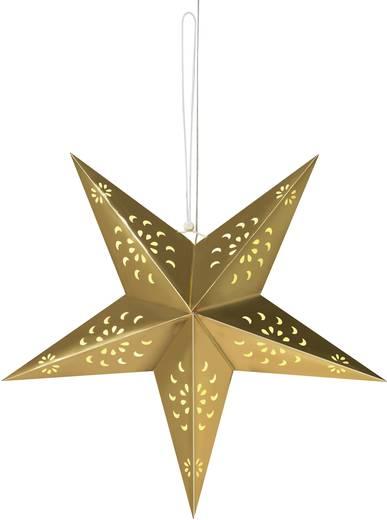 Polarlite LDE-03-001 Fenster-Dekoration Stern Warm-Weiß LED Gold