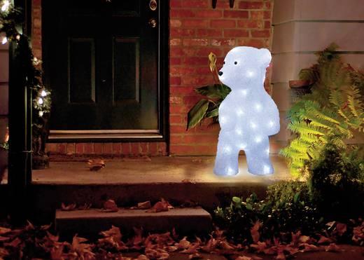 Acryl-Figur Eisbär Kalt-Weiß LED Polarlite PDE-01-001 Weiß