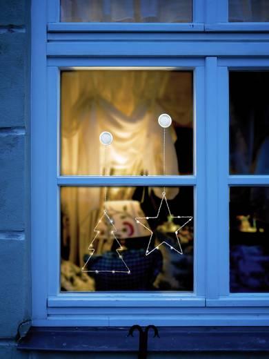 Fenster-Dekoration Weihnachtsbaum Warm-Weiß LED Polarlite LBA-50-015