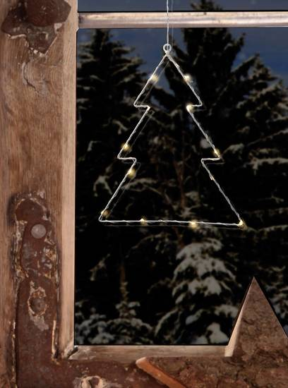 Polarlite LBA-50-015 LED-Fensterbild Weihnachtsbaum