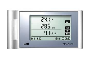 Rejestrator danych ze złączem USB i LAN/POE