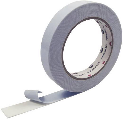 Doppelseitiges Montageband Weiß (L x B) 5 m x 19 mm TOOLCRAFT 1811B1905C 1 Rolle(n)