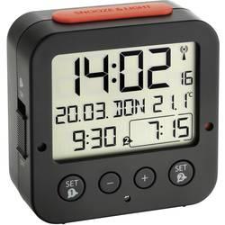 DCF budík s teplomerom TFA Dostmann Bingo 60.2528.01, časov budenia 2, čierna
