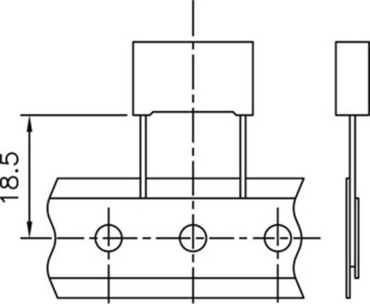 Polyester-Kondensator radial bedrahtet 6.8 nF 100 V 10 % 5 mm (L x B x H) 7.2 x 2.5 mm x 6.5 mm Kemet R82EC1680DQ50K+