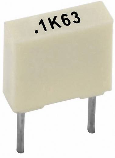 Polyester-Kondensator radial bedrahtet 100 nF 63 V 10 % 5 mm (L x B x H) 7.2 x 2.5 mm x 6.5 mm Kemet R82DC3100AA50K+ 1