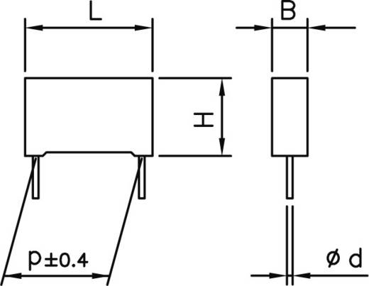 MKP-Funkentstör-Kondensator radial bedrahtet 150 nF 275 V 20 % 22.5 mm (L x B x H) 26.5 x 6 x 15 Kemet R46KN31500001M+