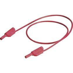 Měřicí kabel banánek 2 mm ⇔ banánek 2 mm MultiContact SLK205-K/SIL, 45 cm, černá