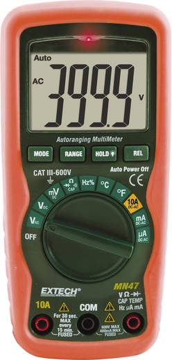 Hand-Multimeter digital Extech MN47 Kalibriert nach: ISO CAT III 600 V Anzeige (Counts): 4000