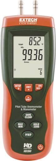 Anemometer Extech HD350 1 bis 80 m/s Kalibriert nach Werksstandard (ohne Zertifikat)