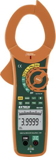 Stromzange, Hand-Multimeter digital Extech MA1500 Kalibriert nach: Werksstandard CAT III 1000 V, CAT IV 600 V Anzeige (