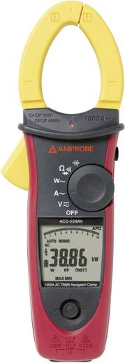 Stromzange, Hand-Multimeter digital Beha Amprobe ACD-53NAV Kalibriert nach: Werksstandard CAT III 1000 V, CAT IV 600 V