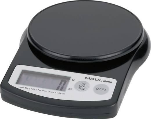 Briefwaage Maul MAULalpha 500G Wägebereich (max.) 0.5 kg Ablesbarkeit 0.1 g batteriebetrieben Schwarz