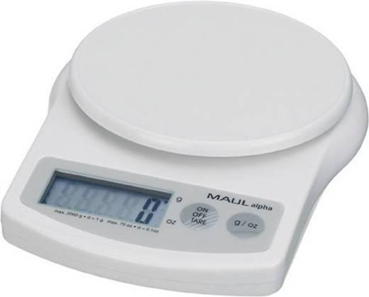 Briefwaage Maul lpha 2000G Wägebereich (max.) 2 kg Ablesbarkeit 1 g batteriebetrieben Weiß Kalibriert nach ISO