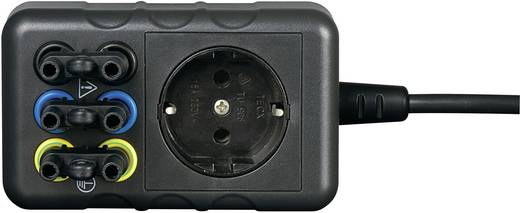 Messadapter Schutzkontakt-Stecker - Buchse 4 mm, Schutzkontakt-Kupplung berührungssicher VOLTCRAFT SMA-10 Schwarz