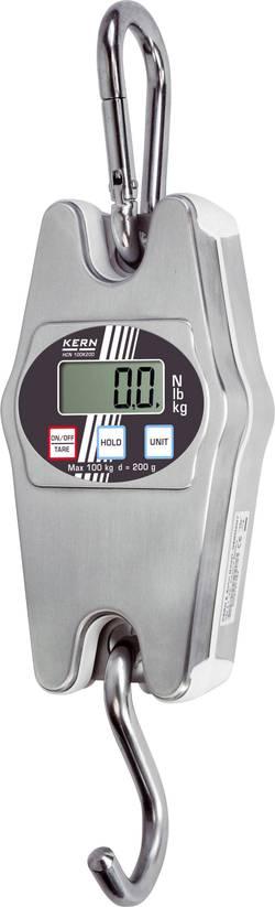 Závěsná váha Kern Max. váživost 100 kg, Rozlišení 200 g Kalibrováno dle ISO