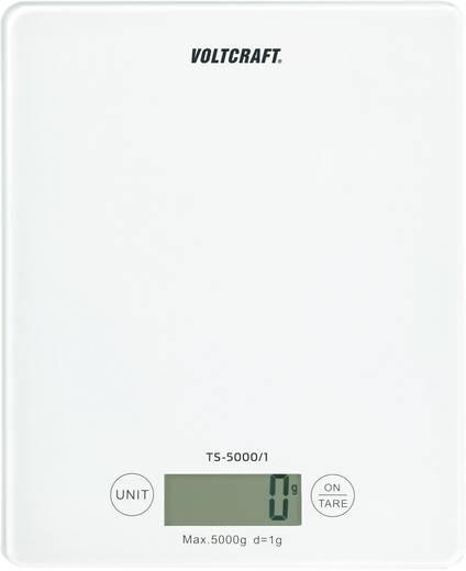 VOLTCRAFT TS-5000/1 Briefwaage Wägebereich (max.) 5 kg Ablesbarkeit 1 g batteriebetrieben Weiß