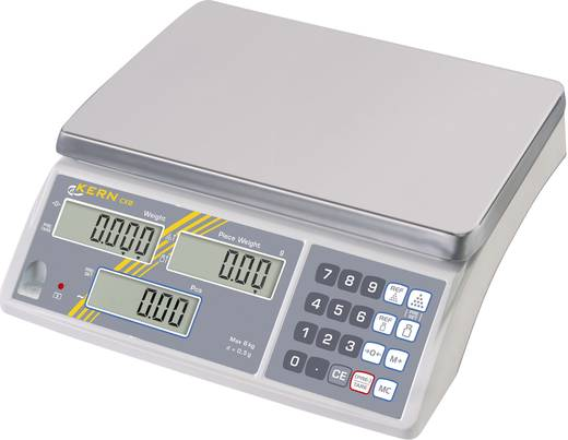 Zählwaage Kern Wägebereich (max.) 6 kg Ablesbarkeit 0.5 g netzbetrieben, akkubetrieben Silber Kalibriert nach ISO