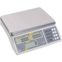 Počítací váha Kern Max. váživost 15 kg Rozlišení 1 g stříbrná