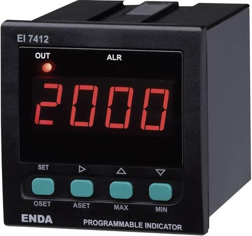 Enda EI7412-SM-AS12 SW Universale LED-Anzeige EI7412 0 - 20 mA/4 - 20 mA/0 - 1 V/0 - 10 V Einbaumaße 68 x 68 mm