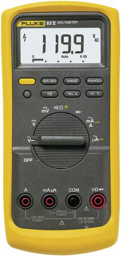 Hand-Multimeter digital Fluke 83V/EUR Kalibriert nach: ISO CAT III 1000 V, CAT IV 600 V Anzeige (Counts): 6000