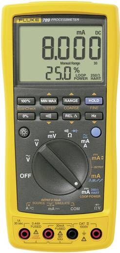 Hand-Multimeter digital Fluke 789/EUR Kalibriert nach: Werksstandard Prozess-Stromausgabe CAT III 1000 V, CAT IV 600 V Anzeige (Counts): 30000