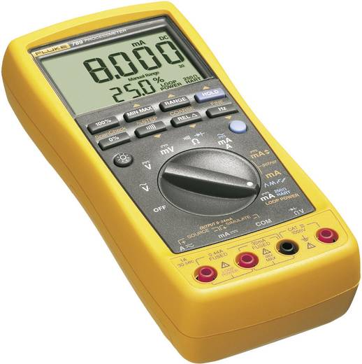 Hand-Multimeter digital Fluke 789/EUR Kalibriert nach: ISO Prozess-Stromausgabe CAT III 1000 V, CAT IV 600 V Anzeige (Co
