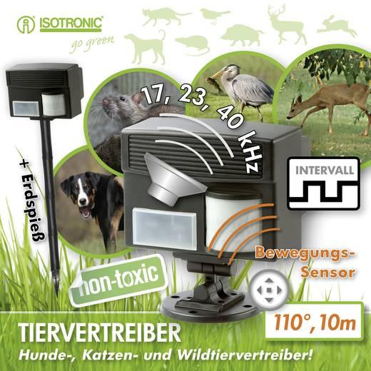 Tiervertreiber Multifrequenz Isotronic Animal Repellent Multi Wirkungsbereich 100 m² 1 St.