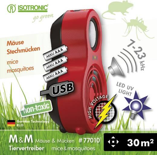 UV-Insektenfänger Isotronic M & M 77010 (L x B x H) 124 x 76 x 43 mm Rot 1 St.